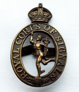 Officers Royal Corps of Signals OSD Cap Badge